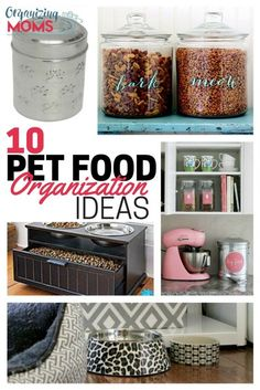 Pet food organization ideas to help you keep your furry friend's food and snacks…