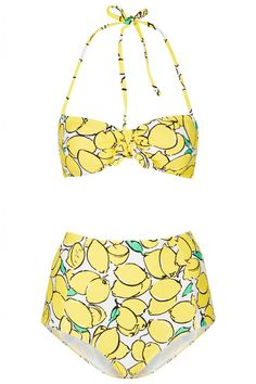 "Topshop #Lemon #yellow bikini from an article titled ""Swimsuits to Suit Your Body Shape"". #summer #swimsuit #bikini"