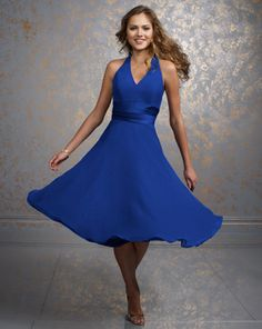 @Sarah Derby, I know you said royal blue/red, not sure if you're thinking long or knee length but these are adorable!