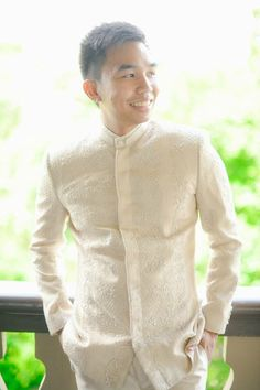 The Barong Suit by BKS #menswear #handembroidered #boykastnersantos Barong Tagalog Wedding, Barong Wedding, Filipiniana Wedding, Wedding Groom, Wedding Suits, Wedding Attire, Groom Outfit, Groom Attire, Filipino Wedding