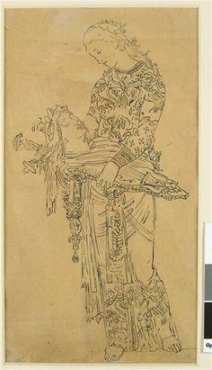 Gustave Moreau, Etude pour Orphée. Vers 1885-1890 (?)