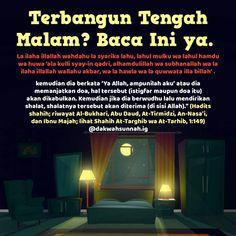 """Rasulullah -Shallallahu 'alaihi wasallam- bersabda,""""Barangsiapa yang terbangun di malam hari, Lalu… Islamic Prayer, Islamic Qoutes, Islamic Inspirational Quotes, Muslim Quotes, Islamic Dua, Hijrah Islam, Doa Islam, Salam Muslim, Ask Believe Receive"""