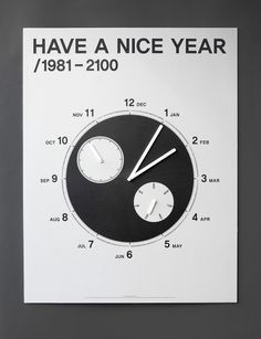 A calendar that is not just checking a date.HAVE A NICE YEAR project is about spreading year, month, date, day, hour and secondin the one page so that it allows people to look at the time movement of an year of the life time.'HAVE A NICE YEAR' calendar… Nice, Studio, Cool Stuff, First Page, Minimalist Design, Finland, Behance, Author, Calendar