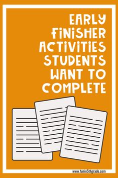 "Are you struggling with what to do with early finishers in the classroom?  Are you they constantly asking ""what do I do now?""  This blog post has great ideas on how to guide your students to become independent when figuring out what they should do with a great anchor chart along with LOTS of activities in all subjects that are engaging will have your students WANTING to do these activities!"