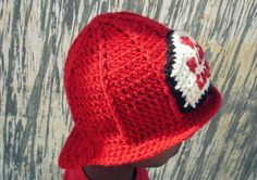 Crochet hat pattern   crochet fireman hat by Thehobbyhopper, $5.00  Elayne Cardinale Gregory - I'm calling it!!! with Locust Valley Fire Department on the shield!!!