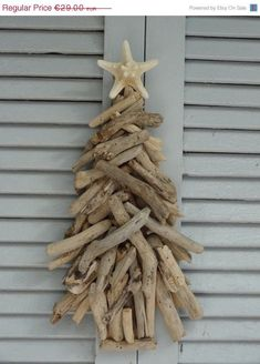 Driftwood Natural Chistmas Tree - Driftwood Decoration - Wall Art - Christmas Decor - Hanging Tree