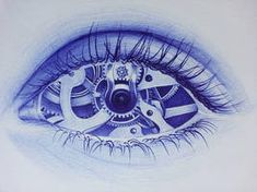 """Ballpoint Art """" Trapped """" by Alexndra Mirica ( aka Alexandra Miron ) First of all i would like to say thank you for all your support! i have discovered great artists since i joined the deviants. Dark Art Drawings, Tattoo Drawings, Pen Drawings, Doodle Learn, Ballpoint Pen Art, Pen Sketch, Sketches, Gcse Art Sketchbook, Biomechanical Tattoo"""