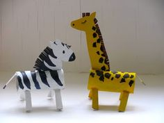 Make Your Own Zoo this summer holidays beginning with these guys! Terribly Tall Terry and his stripey friend are simple makes from normal household recycling!