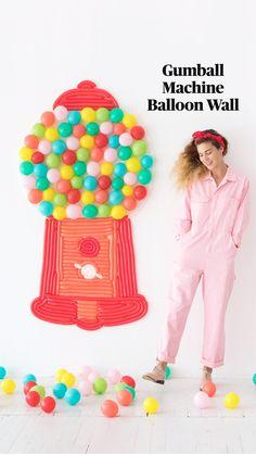 Balloon Pump, Balloon Wall, Balloon Arch, Mini Balloons, Gumball Machine, Diy Party, Party Ideas, Party Entertainment, Inspiration Wall