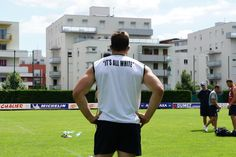 Jamie Cudmore lors de la reprise de l'entraînement de l'ASM Clermont Auvergne en photos