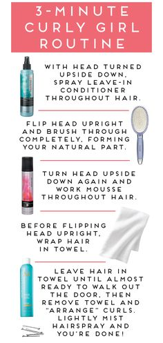 three-minute curly hair routine.