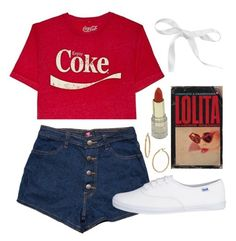 """""""Trailer Park Darling"""" by doe-eyed-nymphet ❤ liked on Polyvore featuring Bony Levy, red, nymphet and nymphetfashion"""