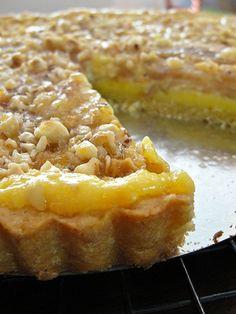 Pear, Mascarpone, and Hazelnut Tart