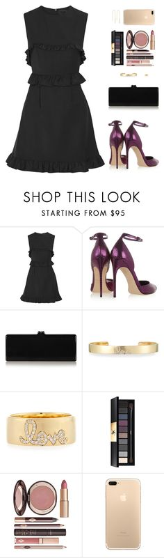 """""""Sin título #4508"""" by mdmsb on Polyvore featuring moda, Paskal, Brian Atwood, Edie Parker, Sydney Evan, Yves Saint Laurent y Charlotte Tilbury"""