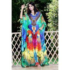 100% Silk kaftan embellished beaded beach Resort wear 63 Silk Kaftan, Two Piece Dress, Resort Wear, Designer Collection, Tie Dye, Fancy, Beach, Swimwear, How To Wear