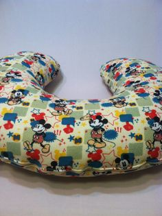 Mickey Mouse Boppy Cover, Breastfeeding Pillow Cover, Nursing Pillow Cover, Baroo Cover, New Mom, Custom Pillow Cover