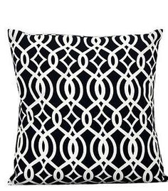 Monogrammed Navy Vine Print Cushion Cover by EmbroideryByLindaP