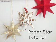 Paper Star Tutorial at StampinFool.com