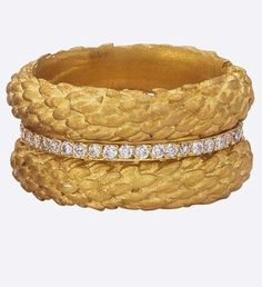 Garland Bands  Stack of Three Rings from Nature  Made to by bmjnyc, $3910.00