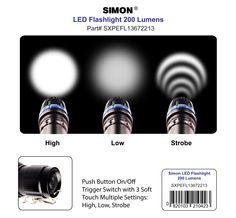 Simon Multipurpose 200 Lumen LED Flashlight. Available on Amazon Click Here Now! --> http://www.amazon.com/Simon-Flashlight-Multipurpose-Adjustable-SXPEFL13672213/dp/B00GJY2VXU/