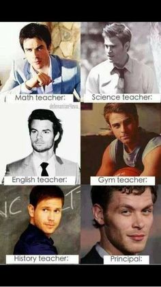 TVD boys as teachers I need a transfer to this school . . . . . NOW!!!!!!!!