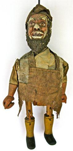 Antique Marionette or Puppet - 19th century European. $795.00, via Etsy.