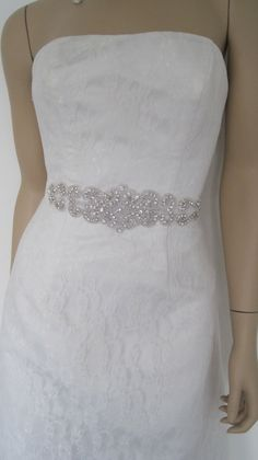 wedding sash beltCrystal bridal sash belt by Diamondweddingveil, $89.00 Plan My Wedding, Wedding 2015, Dream Wedding, Wedding Ideas, Wedding Things, Wedding Stuff, Wedding Dress Sash, Wedding Belts, Wedding Dresses