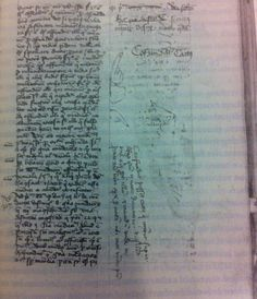 This medieval manuscript curses the cat who peed on it--details and full curse in link.