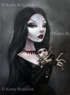 Beautifully Dark Fantasy Art by Kurtis Rykovich - Gothic Life Dark Gothic Art, Dark Fantasy Art, Dark Art, Arte Horror, Horror Art, Gothic Kunst, Fantasy Kunst, Goth Art, Creepy Art