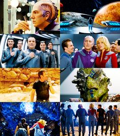 "Galaxy Quest... Guy rules... ""Is there air?  You don't know."" ""Look around you.  Can you form some sort of rudimentary lathe?"""