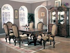 100131 7 Pieces Saint Charles Dining Room Set table, 4 sides, 2 arms | NEW $3499 SALE $2372.00 FRIENDS DISCOUNTED PRICE $1779.00