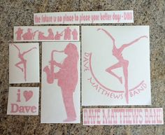 DMB Dave Matthews Band Decal Set of 7 stickers Vinyl by nockonwood, $20.00