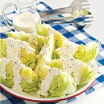 Lettuce Wedges with Creamy Dressing Recipe | MyRecipes.com
