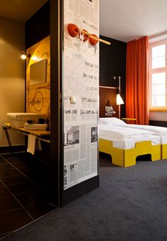 superbude // hamburg // via The new breed of designer hostels | Travel | Wallpaper* Magazine: design, interiors, architecture, fashion, art