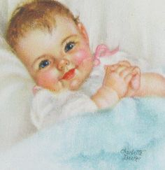 Vintage Charlotte Becker Baby Prints Signed by fancifulanne, $25.00