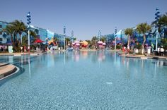 Can't wait to play in this pool...the largest on Disney property!