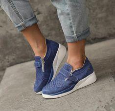 Women Slip On Sneakers, Retro Sneakers, Womens Fashion Sneakers, Wedge Sneakers, Loafers For Women, Unisex Fashion, Casual Sneakers, Shoes Women, Wedge Shoes