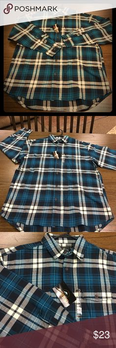 💥Host PIck💥 men's, RedHead,  flannel shirt NWT, men's, RedHead, plaid flannel shirt. Navy/cream/teal colored. Button down. Heavy stitch. 💥Host Pick💥 by @jacksgirls 💥 Men's Style💥02/10/17 RedHead Shirts Casual Button Down Shirts