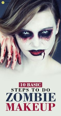 If you love experimenting with makeup, you must have tried the zombie and vampire look before. Given here are the steps to master the zombie makeup this Halloween Kids Zombie Makeup, Zombie Face, Zombie Halloween Costumes, Scary Makeup, Makeup Pro, Diy Zombie Makeup Easy, Zombie Make Up, Zombie Crawl, Teen Makeup