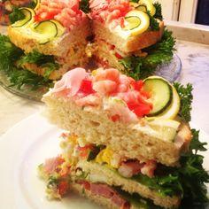 Smørbrødkake – Fru Haaland Norwegian Food, Avocado Toast, Food And Drink, Cookies, Baking, Dessert, Breakfast, Image, Crack Crackers