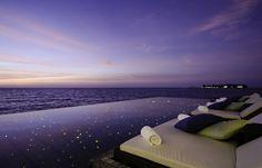 Amazing views over infinite waters at Jumeirah Dhevanafushi, Maldives