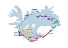 ISLANDIA by bus - ultimate-circle-kort
