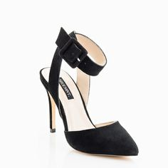Lola Suede Heel in Black.
