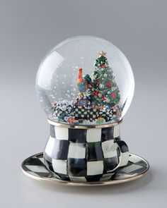 Courtly Check Truck Snow Globe by MacKenzie-Childs at Neiman Marcus.