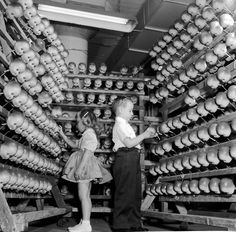 doll head factory | Doll heads, at a doll factory