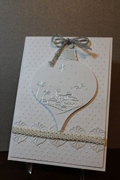DTGD, white ornament by Ksnurse - Cards and Paper Crafts at Splitcoaststampers