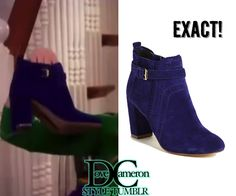 """Dove (as Liv) held up these boots on Liv & Maddie """"Song-A-Rooney"""" Dv By Dolce Vita Blue Thora Boot Sold out  Available in black for $72.59 HERE"""
