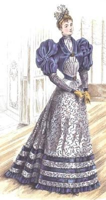 The Barrington House: 1893 fashion plate