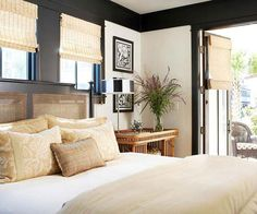 Black and white is more than basic in this fun bedroom! More neutral ideas here: http://www.bhg.com/rooms/bedroom/color-scheme/neutral-colored-bedrooms/?socsrc=bhgpin062814mixingneutralspage=16