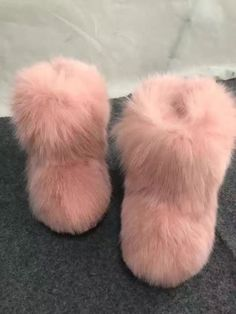 898ea1d4fb3 Woman Fashion Luxury Fox Fur Boots Fluffy Warm Furry Boots Warm Biities Big  Sale
